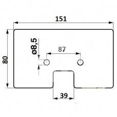 Elevatoriaus lopetėlė John Deere Z52361