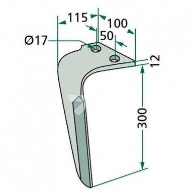 Frezos nagas 180RH-RAU-07-R dešinė 2