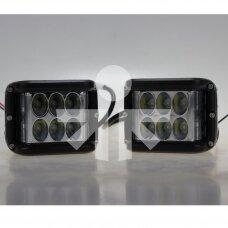 LED darbo žibintų pora 27W  2100Lm TT.13209