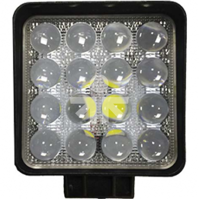 LED DARBO ŽIBINTAS 48W 4D LĘŠIS CE,E9