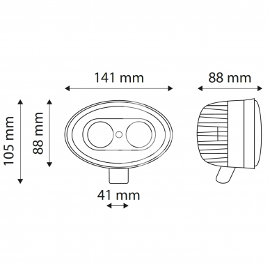 LED žibintas purkštuvui 2x5W 1200Lm TT.13111B 6