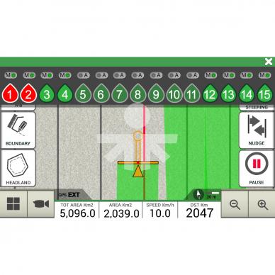 Lygiagretaus vairavimo sistema G7 Plus Farmnavigator + Turtle Smart Pro 15cm 6