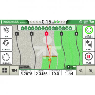 Lygiagretaus vairavimo sistema G7 Plus Farmnavigator + Turtle Smart Pro 15cm 3