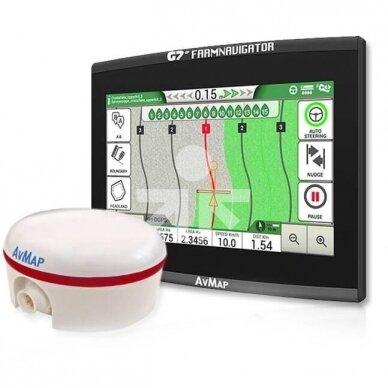 Lygiagretaus vairavimo sistema G7 Plus Farmnavigator + Turtle Smart RTK 2cm