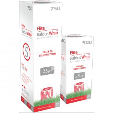 Rulonavimo plėvelė Elite Raldus Wrap Balta 750x1500m 25mk.