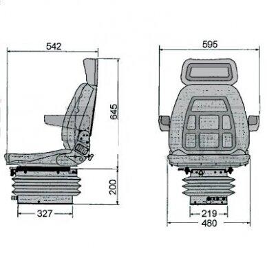 Sėdynė Cobo mechaninė SC90/M91 2
