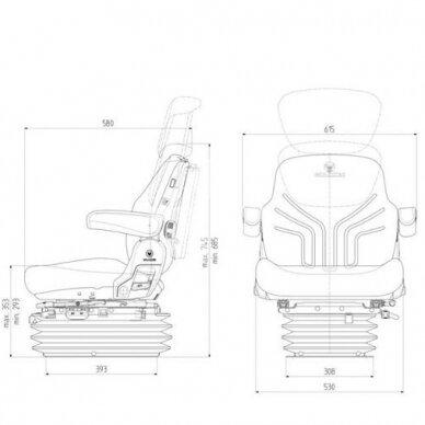 Sėdynė Grammer Maximo Comfort Black Edition MSG 95G/721 2