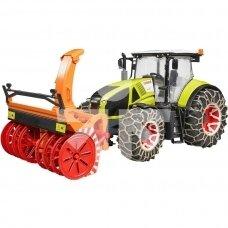 Žaislas Bruder traktorius Claas Axion 950 su sniego valytuvu 03017