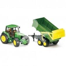 Žaislas Bruder traktorius su priekaba John Deere 6920 02058