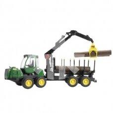 Žaislas Bruder miško traktorius John Deere 1210E 02133