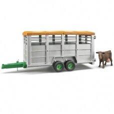 Žaislas Bruder priekaba gyvuliams su viena karve 02227