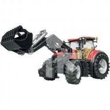 Žaislas Bruder traktorius Case Optum 300 CVX su krautuvu 03191