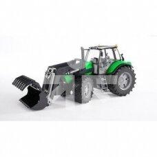 Žaislas Bruder traktorius Deutz-Fahr Agrotron X720 su frontaliniu krautuvu 03081