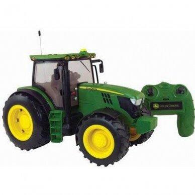 Žaislas traktorius John Deere 6190R Big Farm su pulteliu 42838