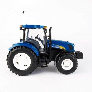 Žaislas traktorius New Holland T6070 Big Farm su pulteliu 42601 2