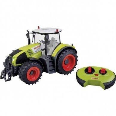 Žaislas Happy People traktorius Claas Axion 870 su valdymo pulteliu 34424